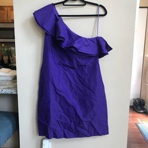 J. Crew one shoulder dress